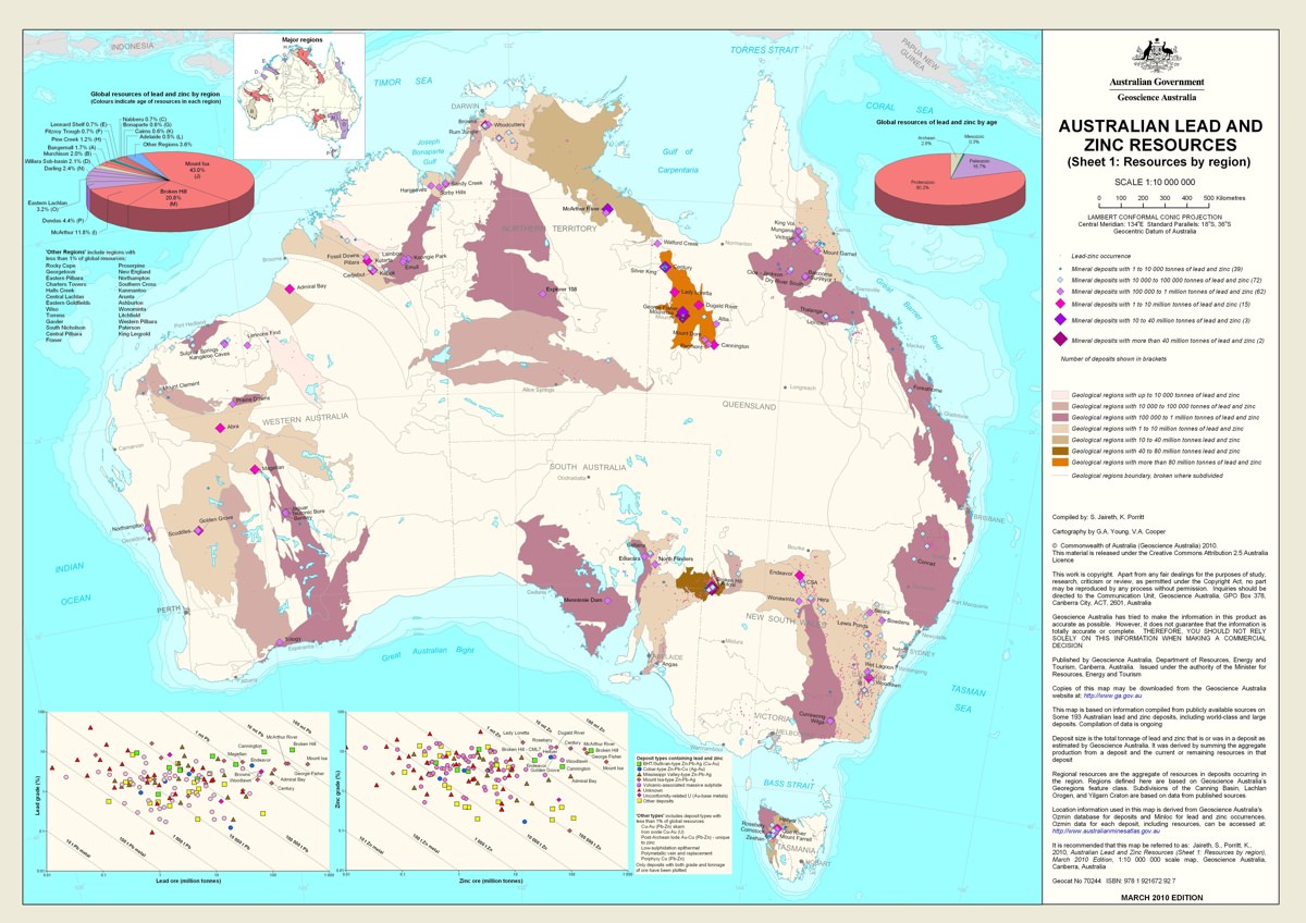 Map of all Australian silver resources