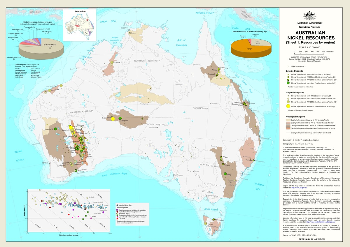 Map of all Australian nickel resources