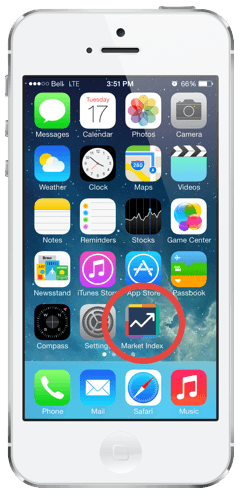 iPhone 5 Example of Home Icon