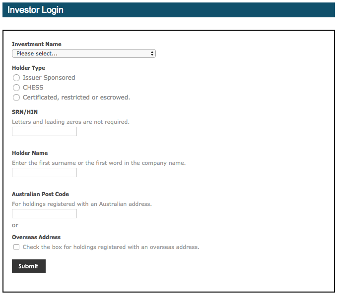 Enter Details Screen
