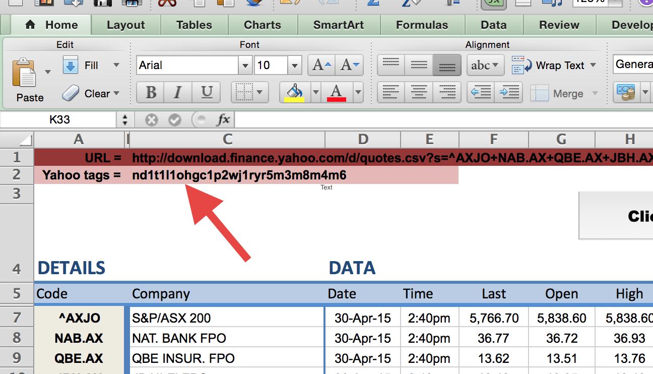 Yahoo Tags Example